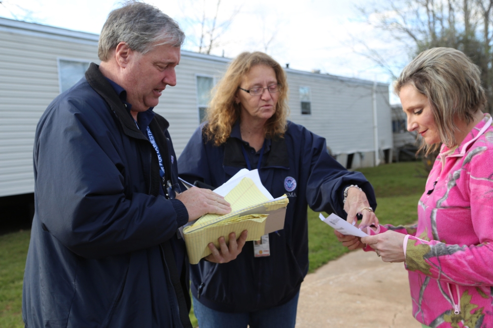 Disaster Survivor Assistance Teams assisting survivors at Pecan Valley Estates